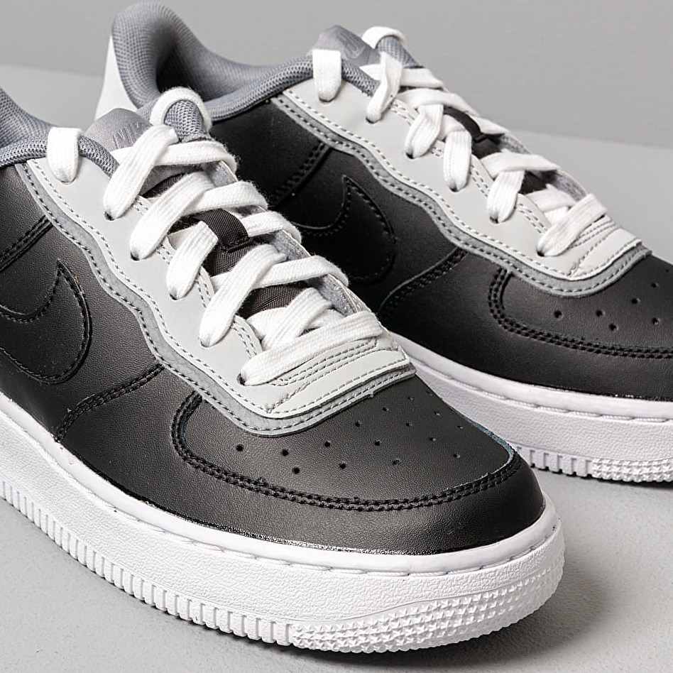 Nike Air Force 1 Lv8 1 Dbl Gs Black/ Black-Pure Platinum-Cool Grey