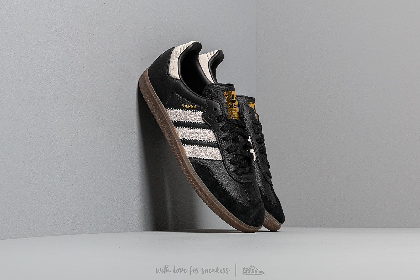 adidas Samba OG Ft Core Black/ Raw White/ Gold Metalic | Footshop
