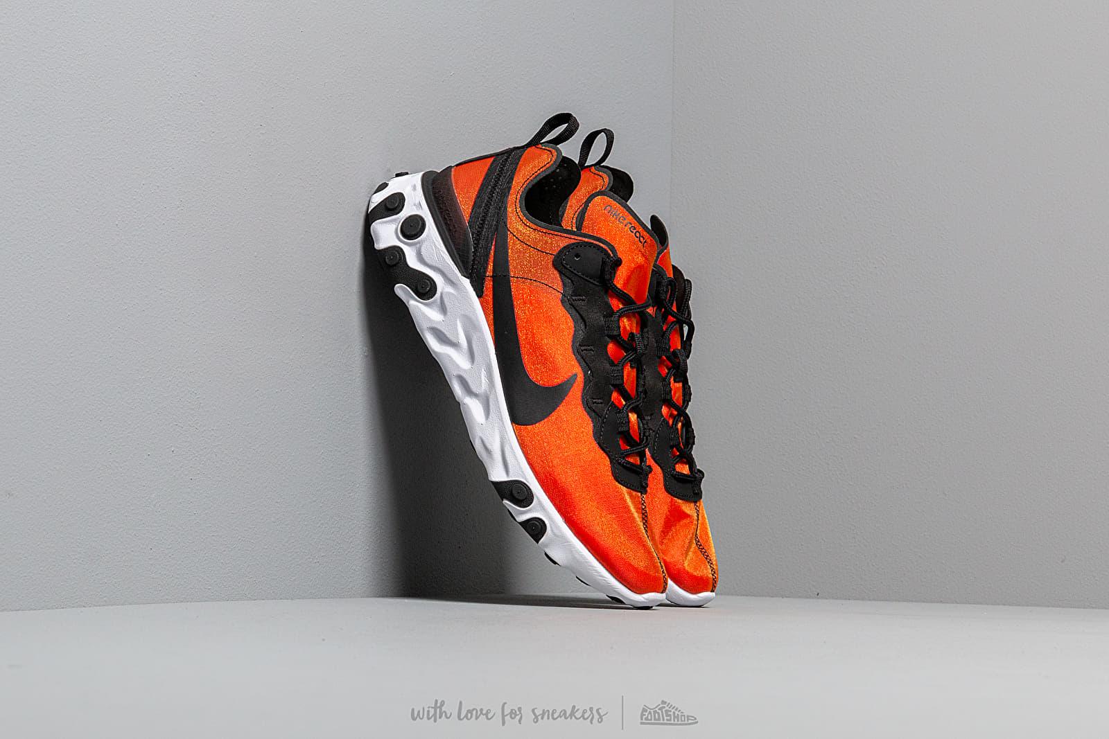 Nike React Element 55 Premium Su19 Black Black Tour Yellow White | Footshop