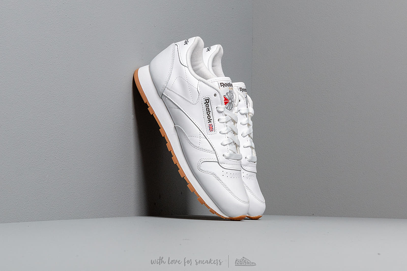 Men's shoes Reebok Classic Leather White/ Gum
