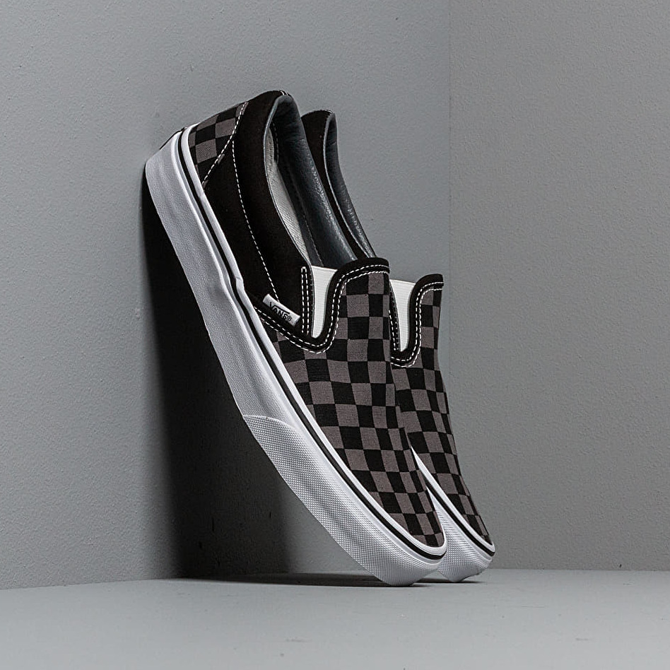 Vans Classic Slip-On Black/ Pewter Checkerboard EUR 35