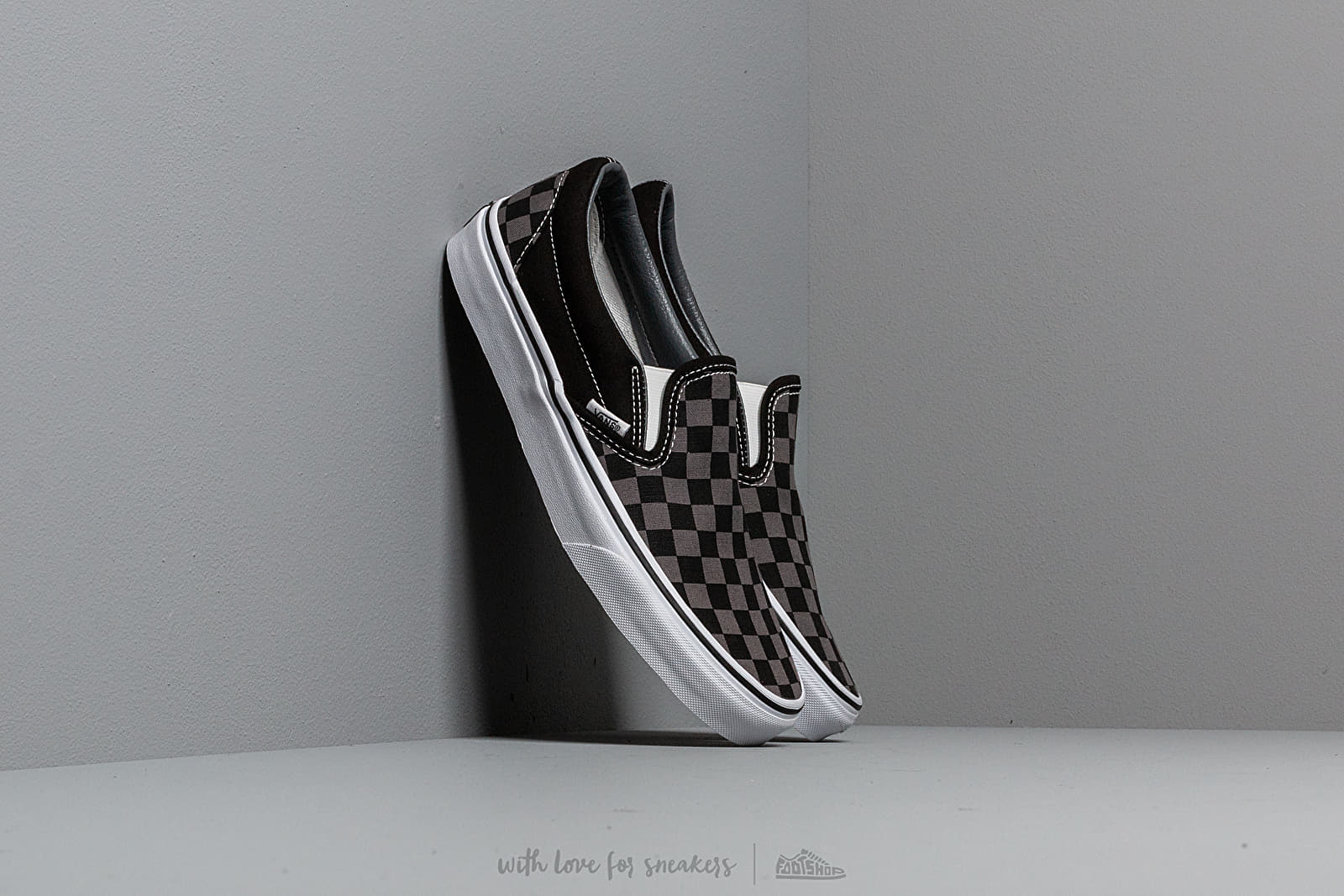 Vans Classic Slip On Black Pewter Checkerboard | Footshop