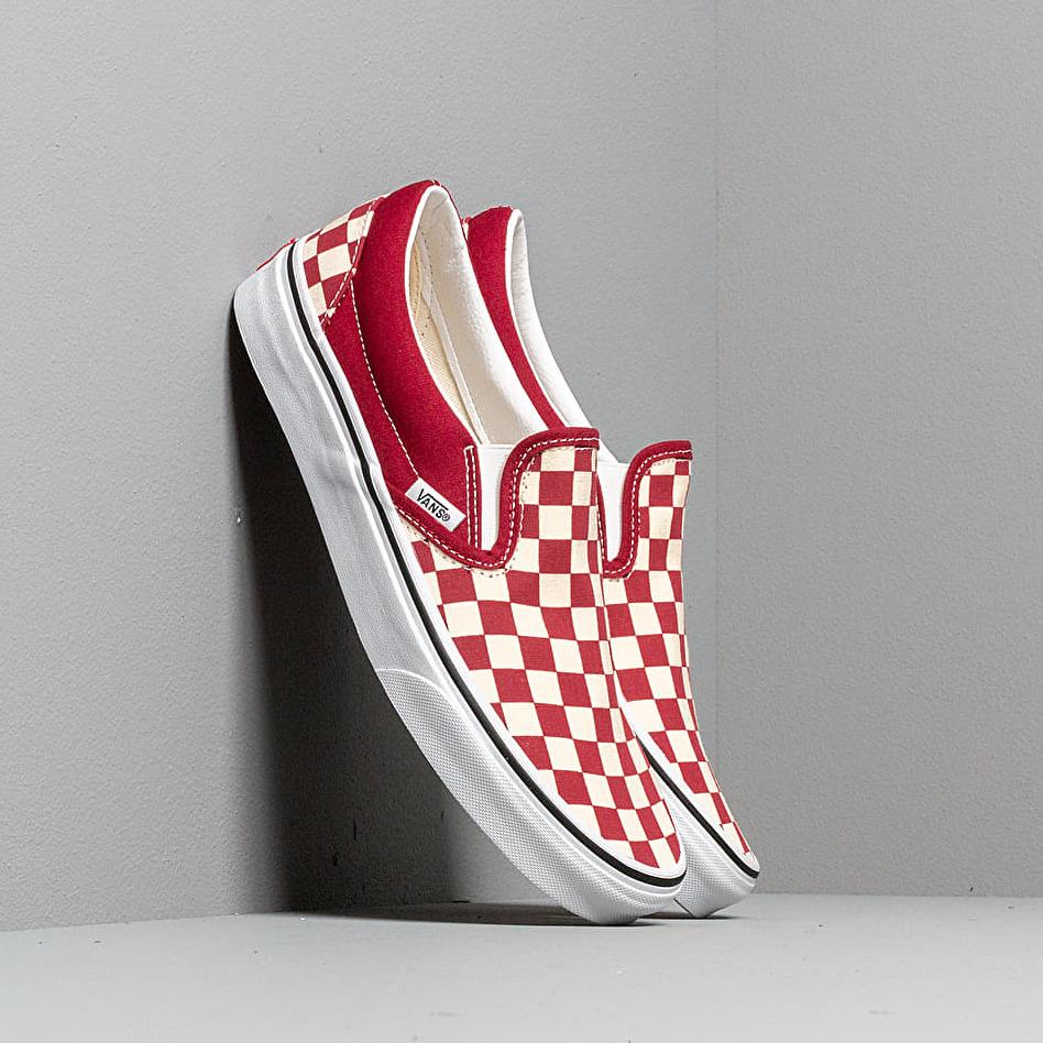 Vans Classic Slip-On (Checkerboardard) Rumba Red/ EUR 46