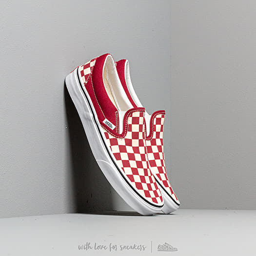 Sneaker Vans Vans Classic Slip-On (Checkerboardard) Rumba Red/