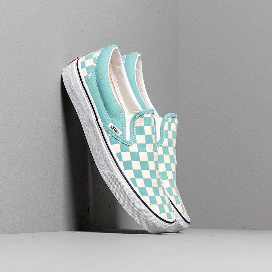 Vans Classic Slip-On (Checkerboardard) Aqua Haze EUR 46