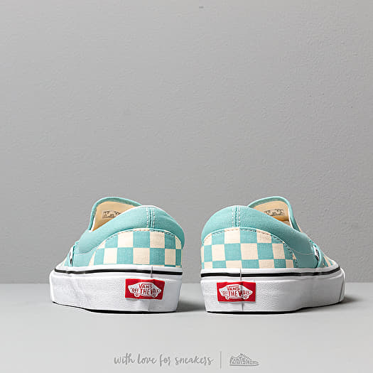 Vans Classic Slip On (Checkerboardard) Aqua Haze | Footshop