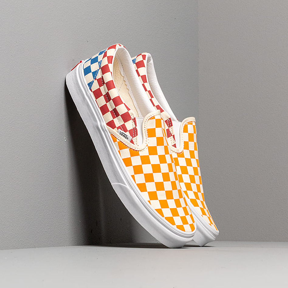 Vans Classic Slip-On (Checkerboardard) Multi/ True White EUR 42