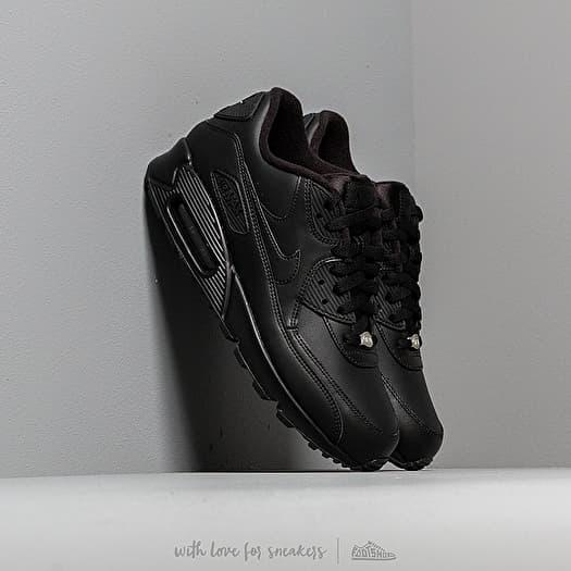Electropositivo sesión acceso  Men's shoes Nike Air Max 90 Leather Black/ Black | Footshop