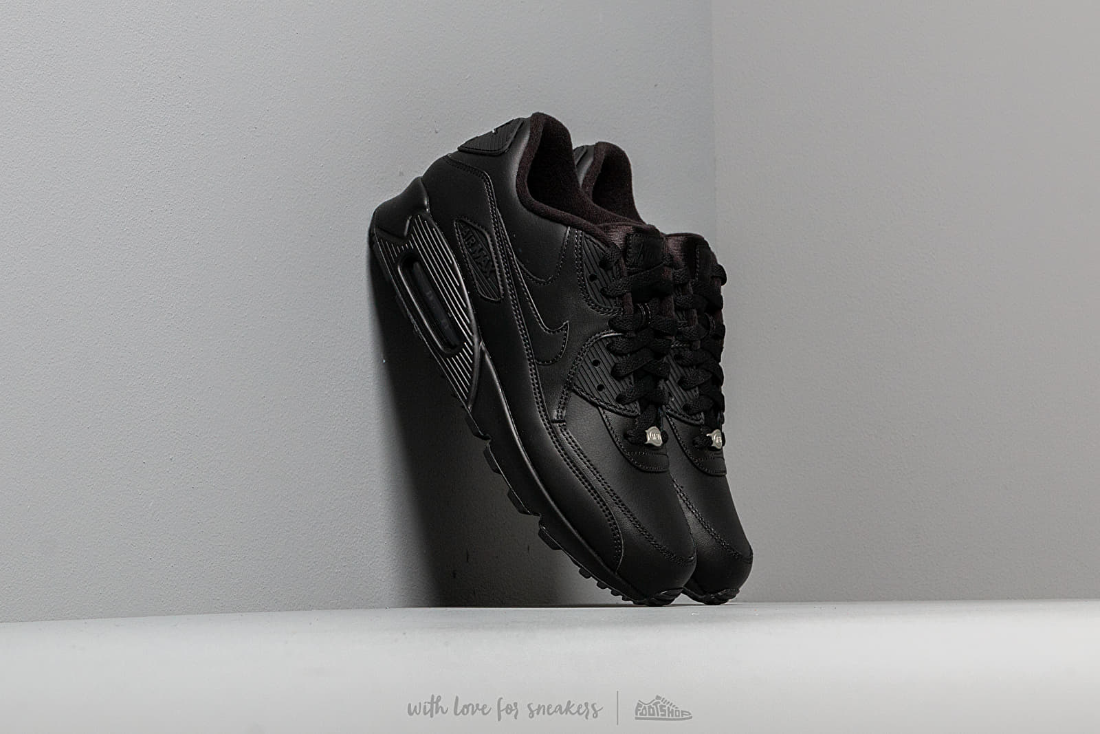 b639cf2d511d9 Nike Air Max 90 Leather Black/ Black at a great price £121 buy at