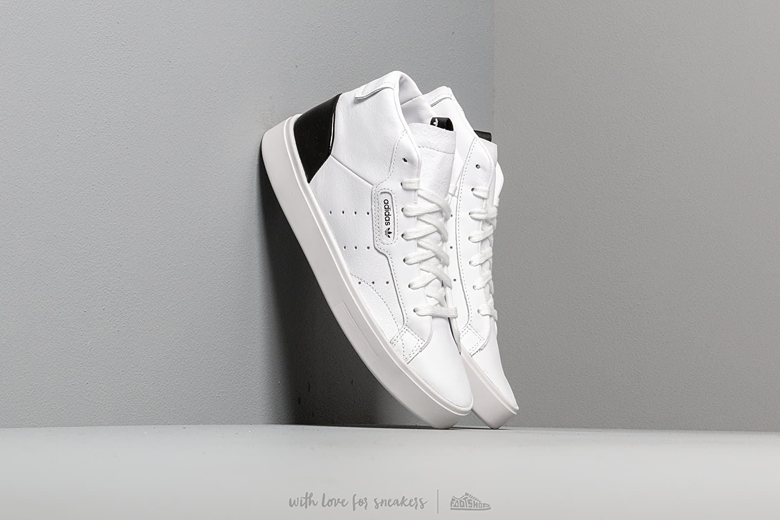 adidas Sleek Mid W Ftw White Ftw White Core Black Footshop  Footshop