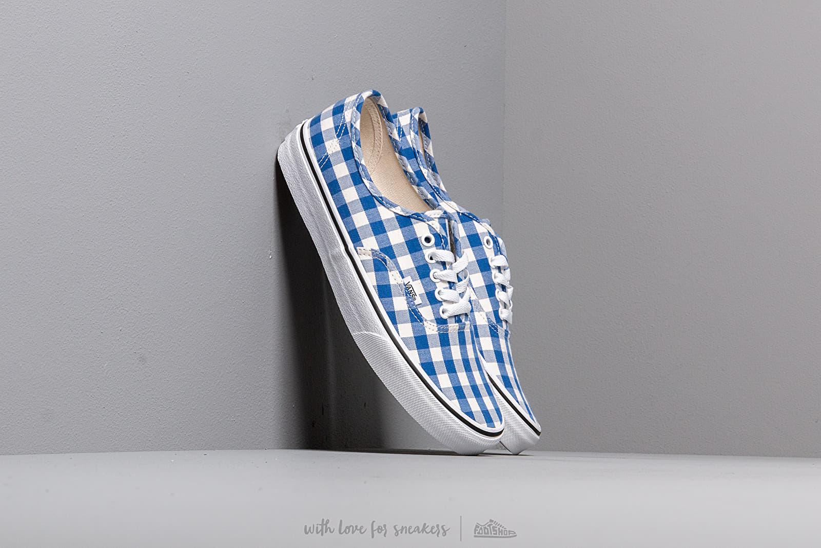 Herren Sneaker und Schuhe Vans Authentic (Gingham) True Blue/ True White