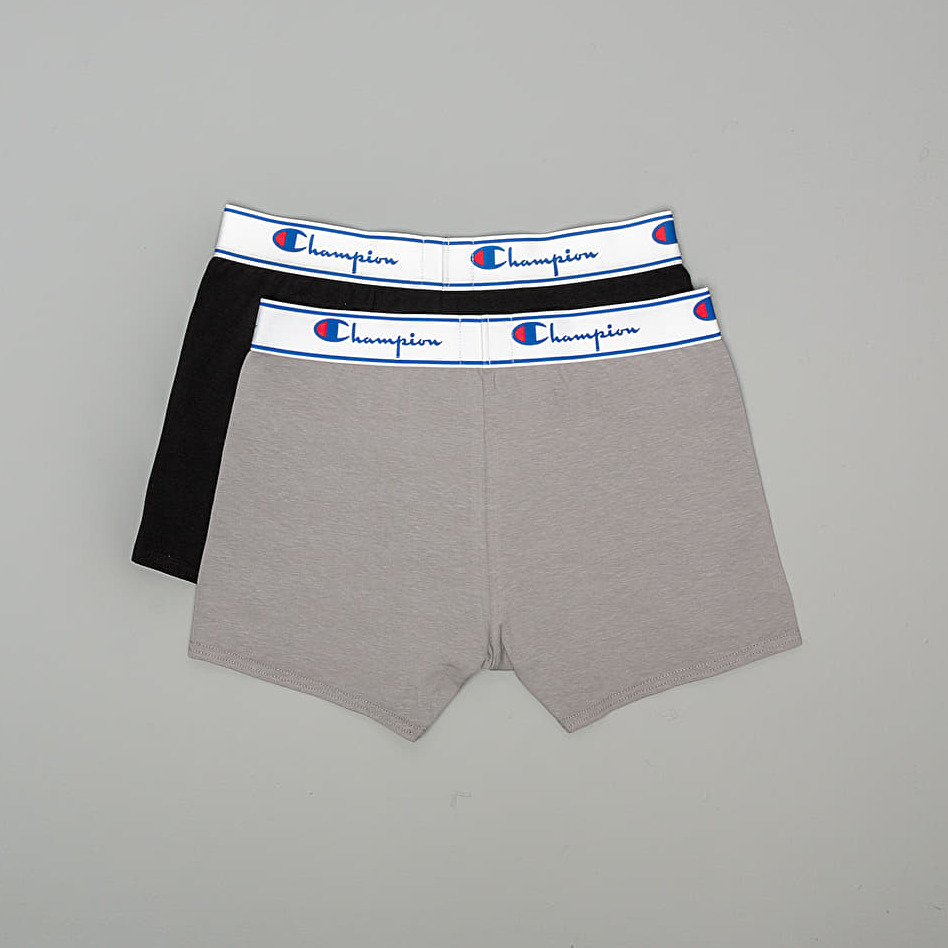 Champion 2-Pack Boxers Grey/ Black