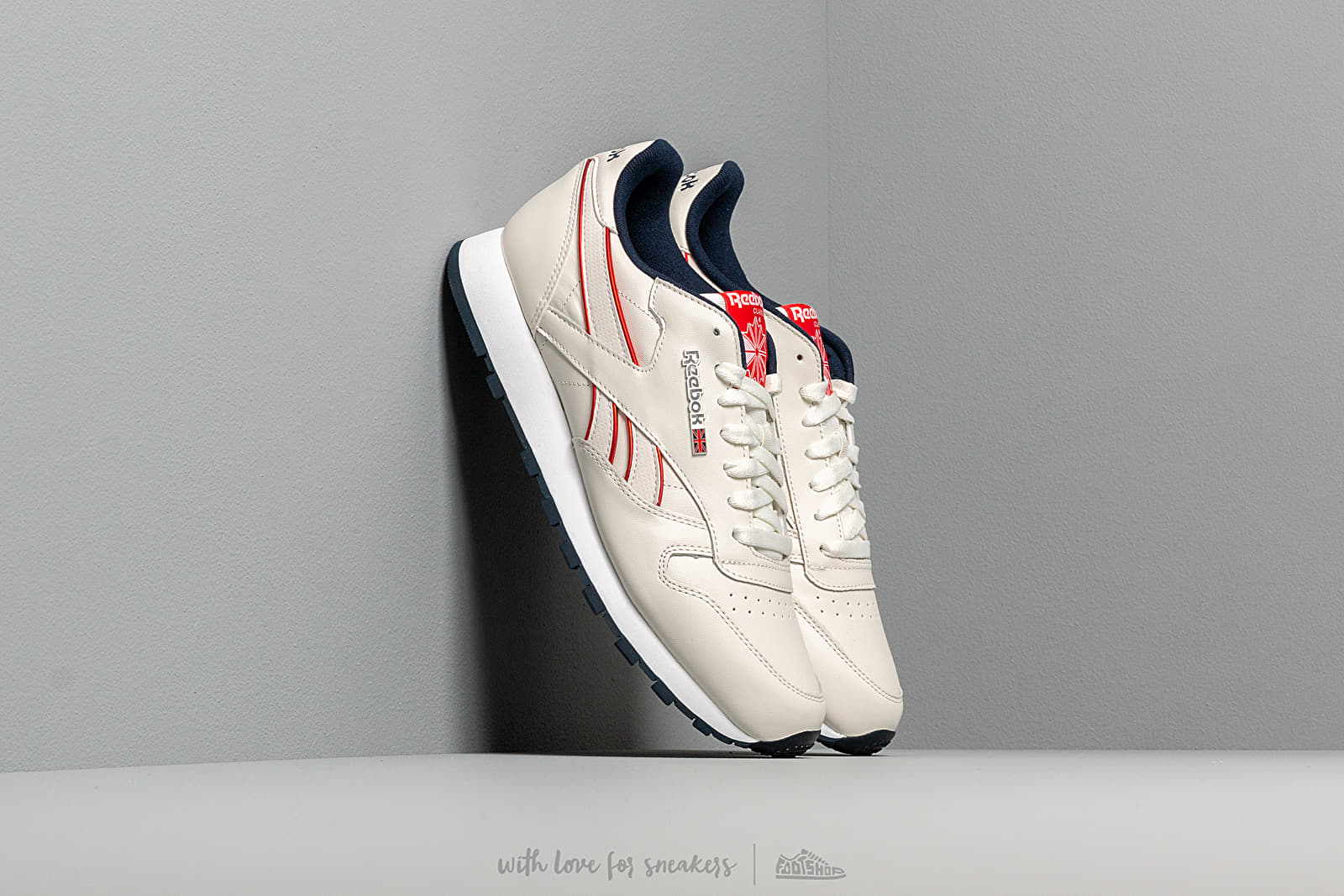 Zapatillas Hombre Reebok Classic Leather Mu Chalk/ Navy/ Red/ White