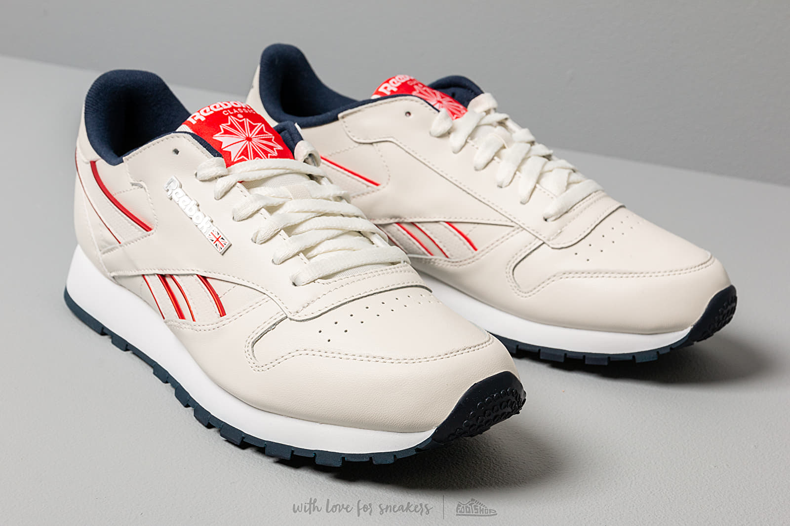 Reebok Classic Leather Mu Chalk Navy Red White | Footshop