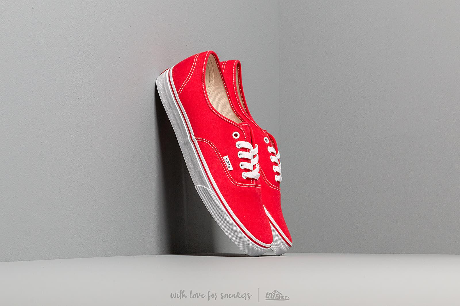 Vans Authentic Red za skvělou cenu 1 490 Kč koupíte na Footshop.cz