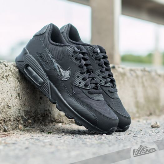 Nike Air Max 90 Mesh (GS) Wolf Grey Black Cool Grey
