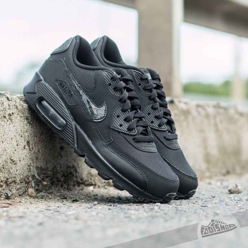 separation shoes 30599 73783 Nike Air Max 90 Mesh (GS). Black  Cool Grey