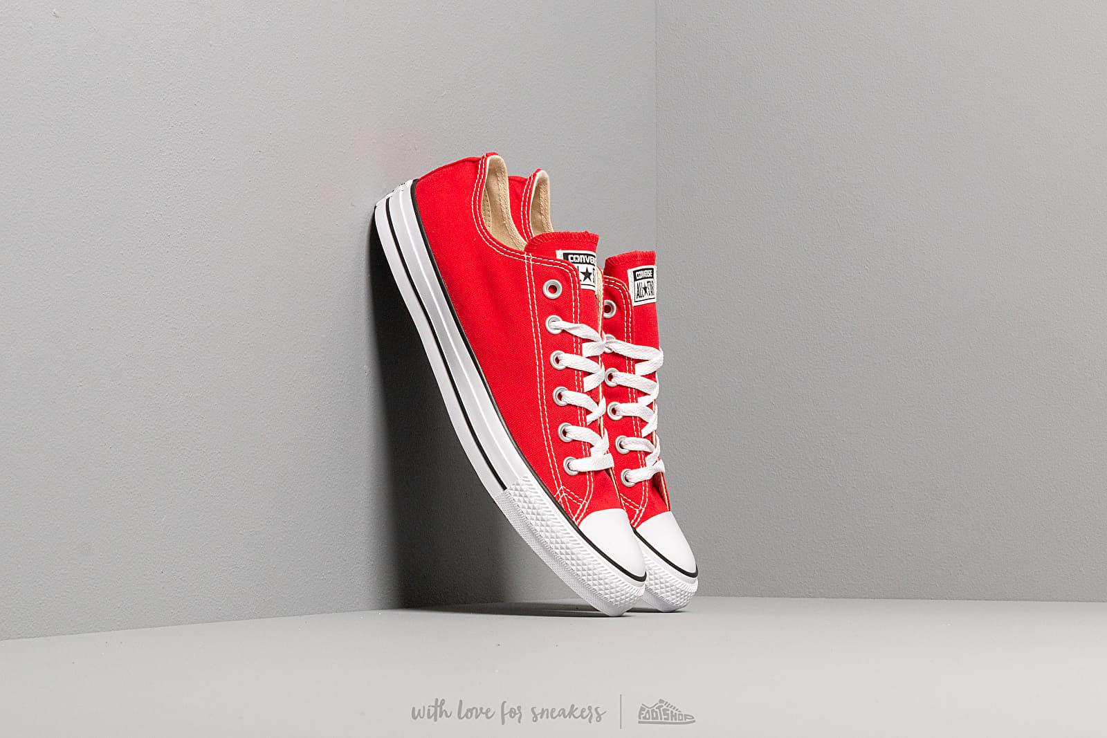 Converse All Star Ox Red za skvělou cenu 1 890 Kč koupíte na Footshop.cz