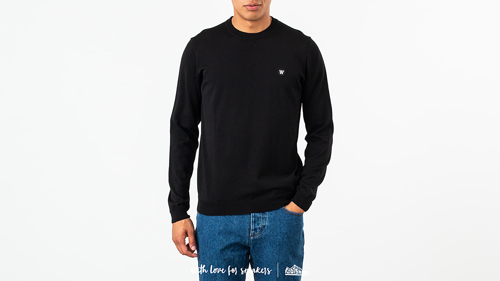 Pullover WOOD WOOD Kip Sweatshirt Black