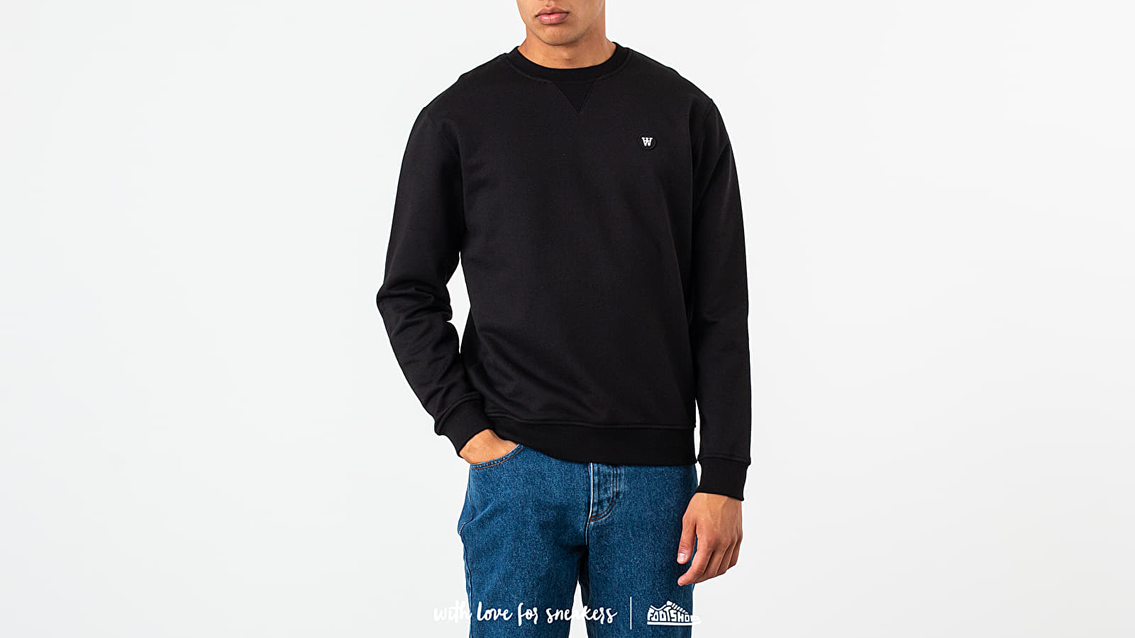 Суичърти WOOD WOOD Tye Crewneck Black