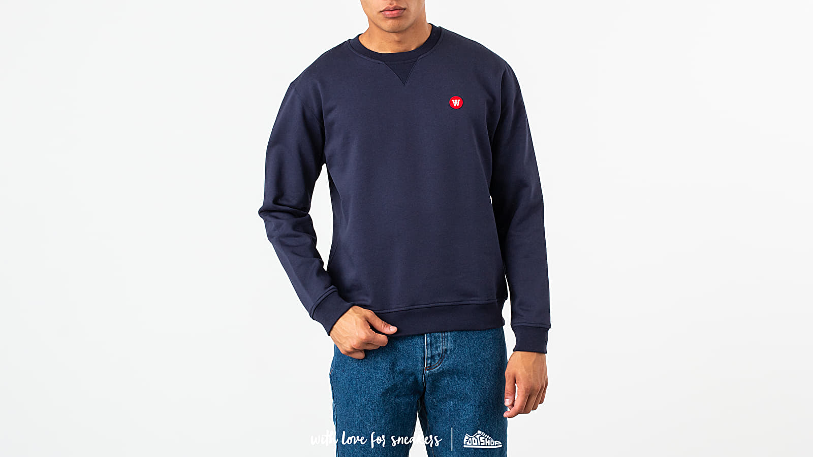 Φούτερ WOOD WOOD Tye Crewneck Navy