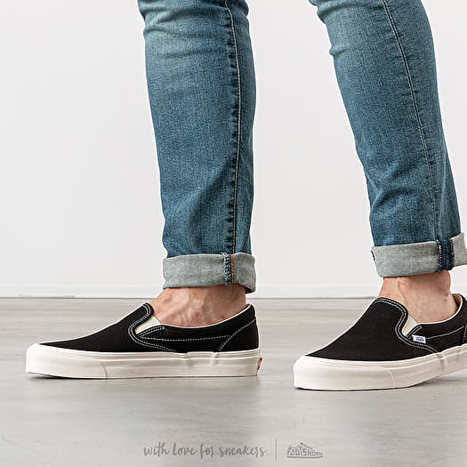Vans OG Classic Slip On LX (Canvas) Black | Footshop