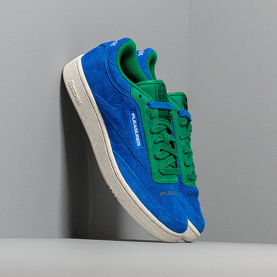 Reebok x Pleasures Club C 85 Vital Blue/ Green/ Chalk/ White EUR 38.5