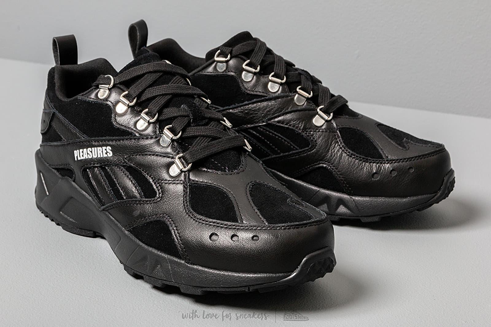 shoes Reebok x Pleasures Aztrek Black