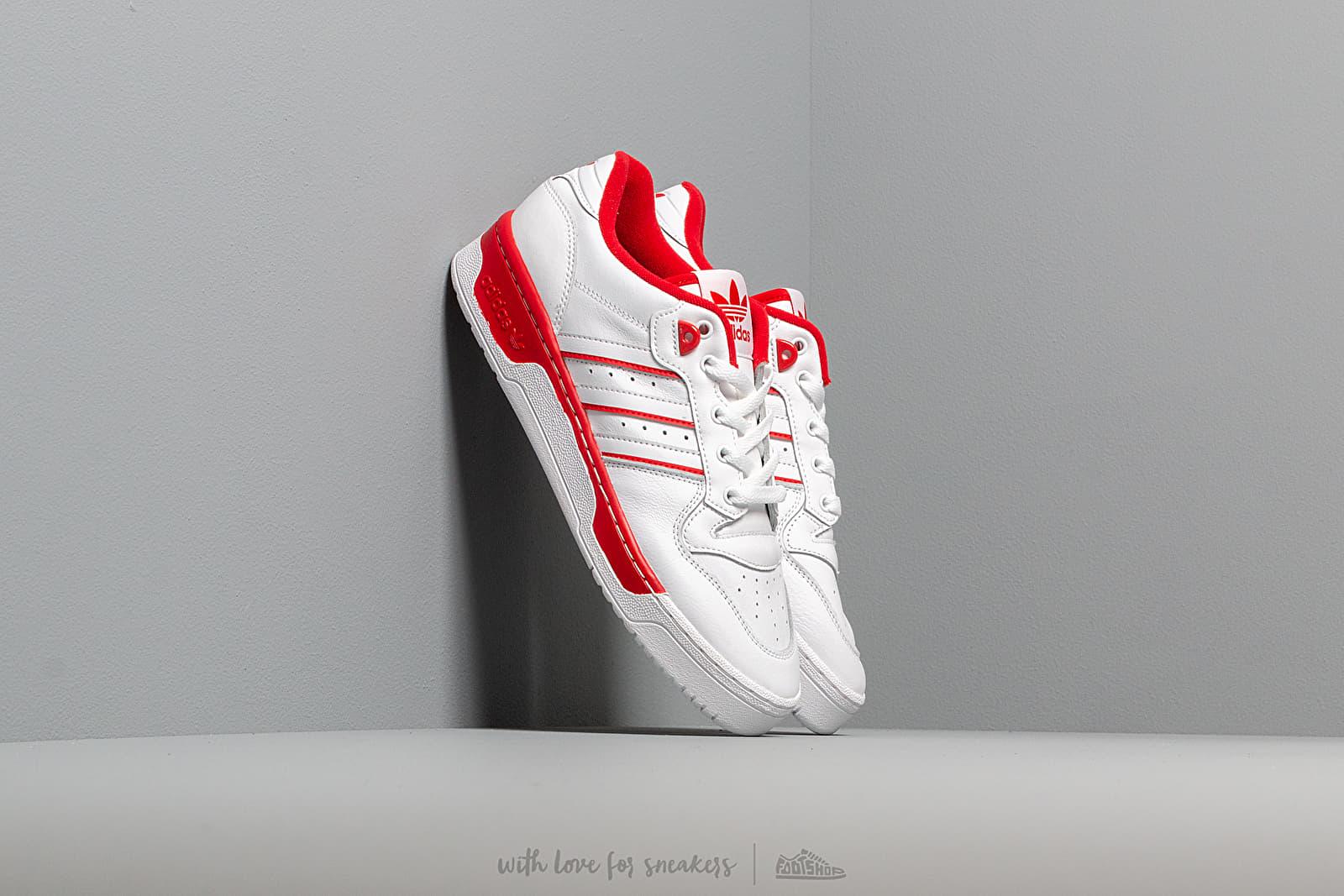 Pánské tenisky a boty adidas Rivalry Low Ftw White/ Ftw White/ Scarlet