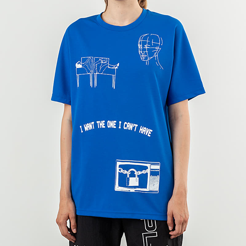 Reebok x Pleasures CL V Unisex Tee 2 Vital Blue