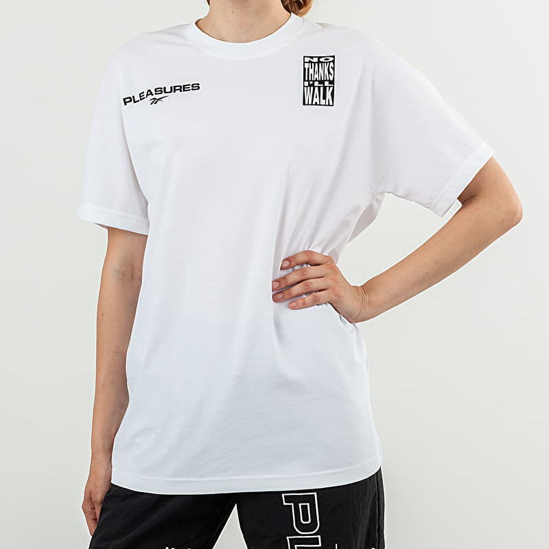 Reebok x Pleasures CL V Unisex Tee White