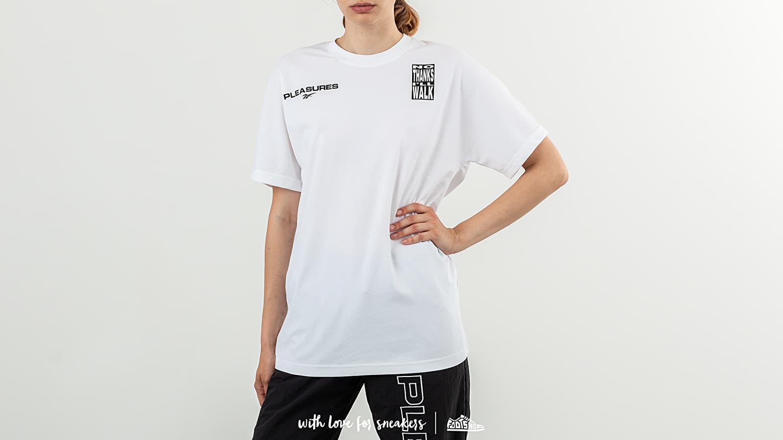 Reebok x Pleasures CL V Unisex Tee White za skvelú cenu 46 € kúpite na Footshop.sk