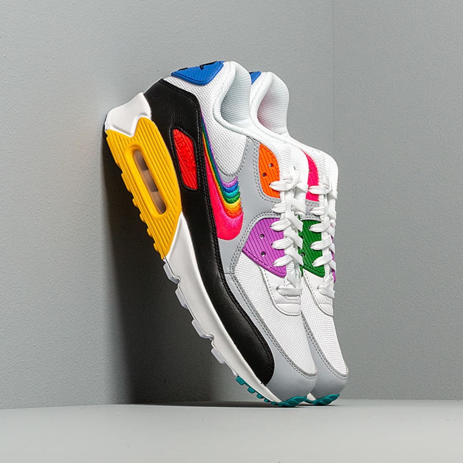 Nike Air Max 90 BETRUE White/ Multi-Color-Black-Wolf Grey EUR 41