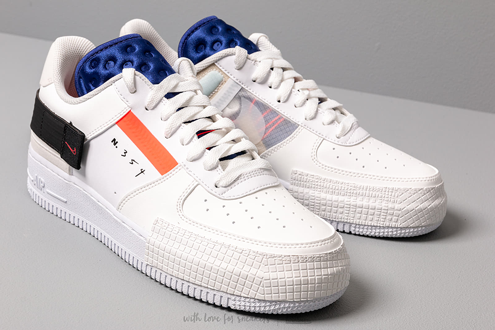 Nike Air Force 1 Type White Volt Black White | Footshop