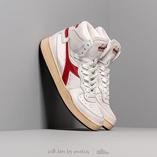 shoes Diadora MI Basket Used White/ Garnet