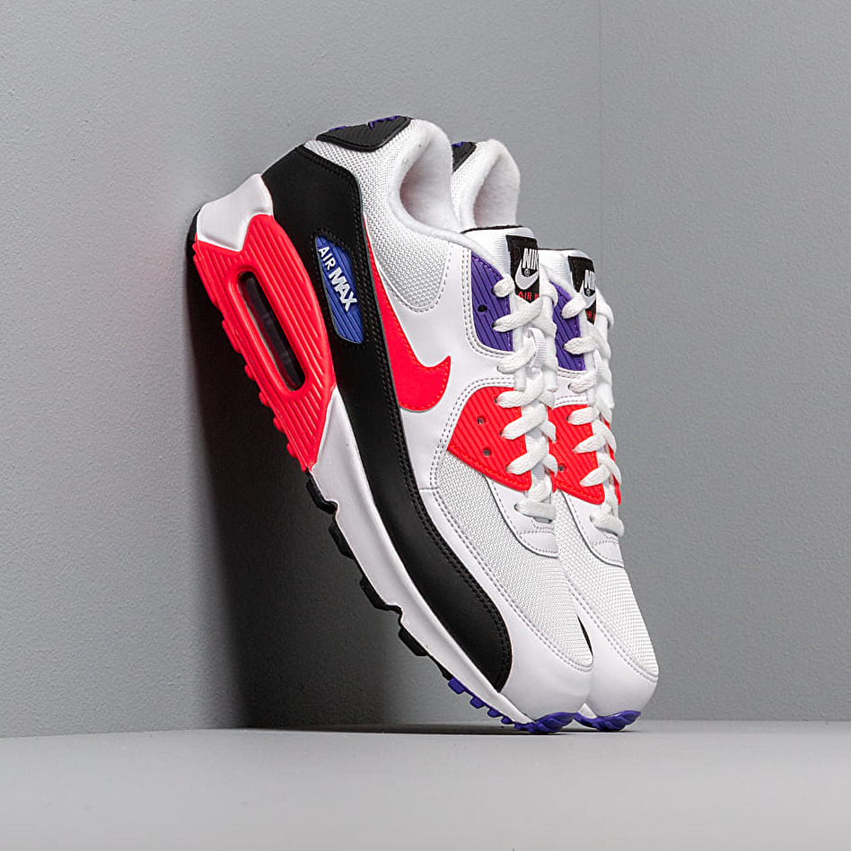 Nike Air Max 90 Essential White/ Red Orbit-Psychic Purple-Black EUR 43