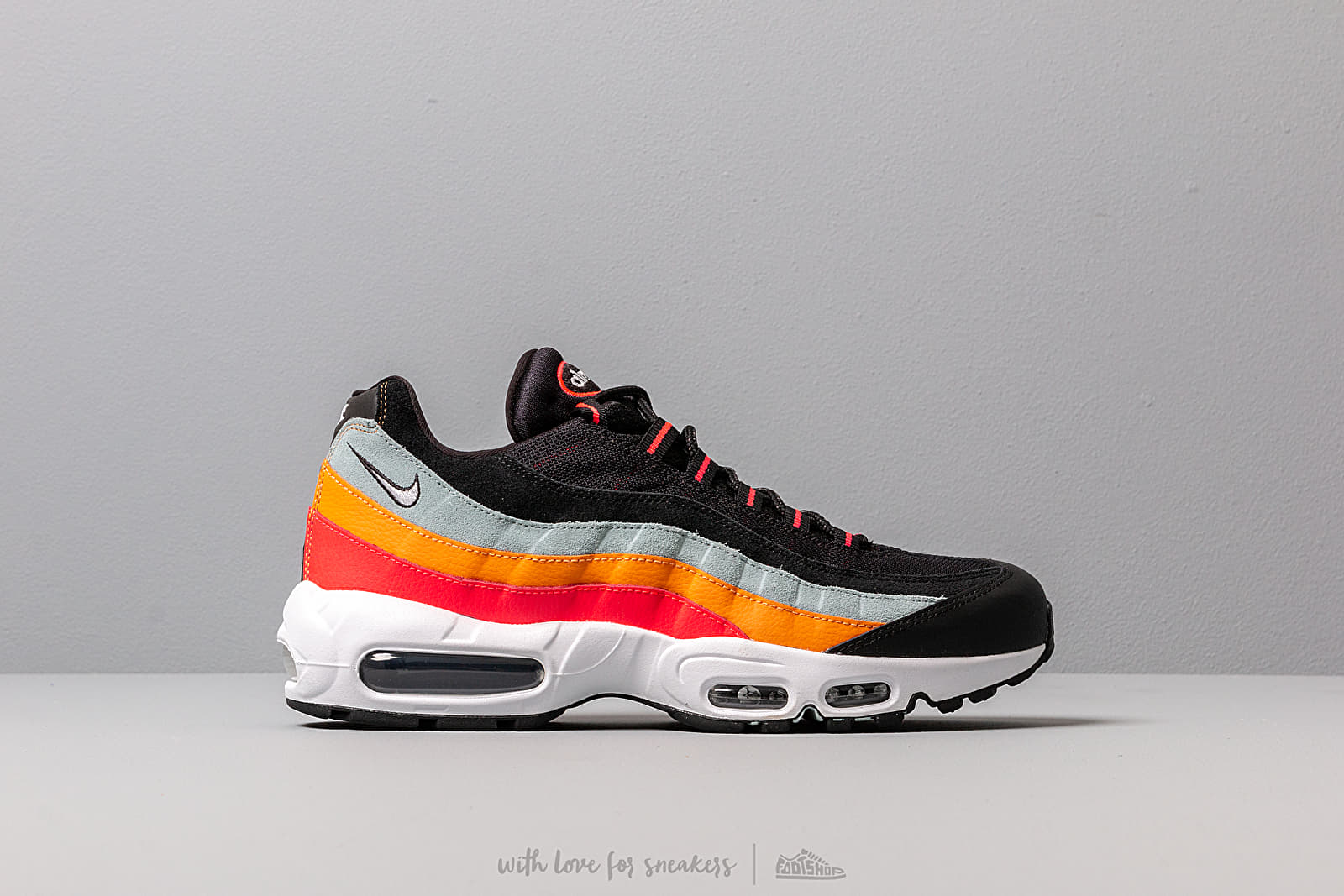Nike Air Max 95 Essential Black White Ocean Cube Kumquat | Footshop