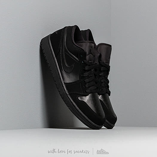 Air Jordan 1 Low Black Black Black | Footshop