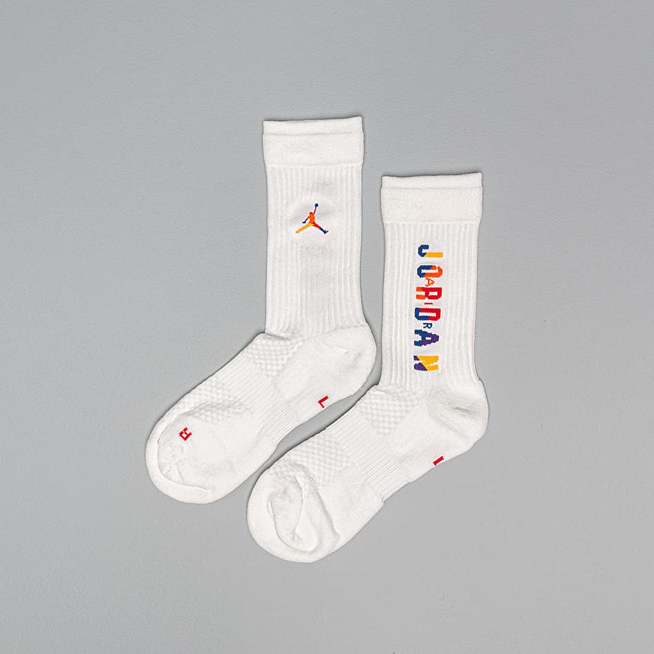 Jordan Legacy Rivals Crew Socks White/ Multi-Color