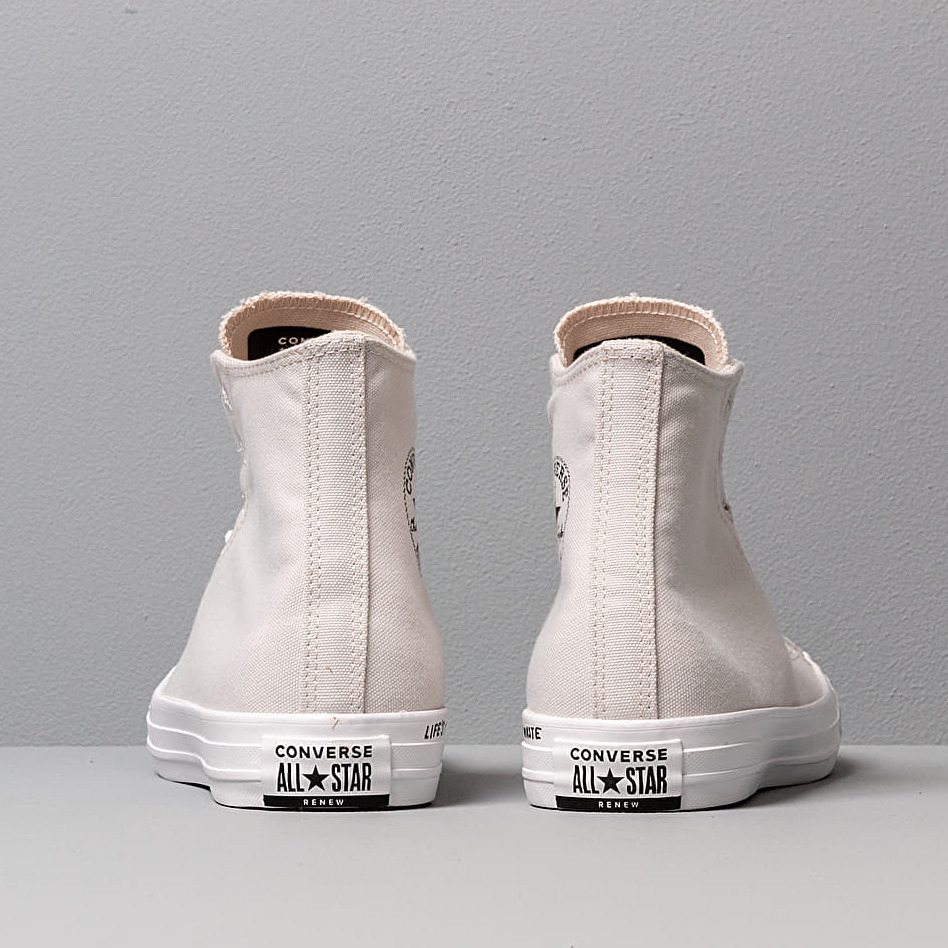 Converse Chuck Taylor All Star Hi Renew Canvas Pale Putty/ Black/ White, Brown