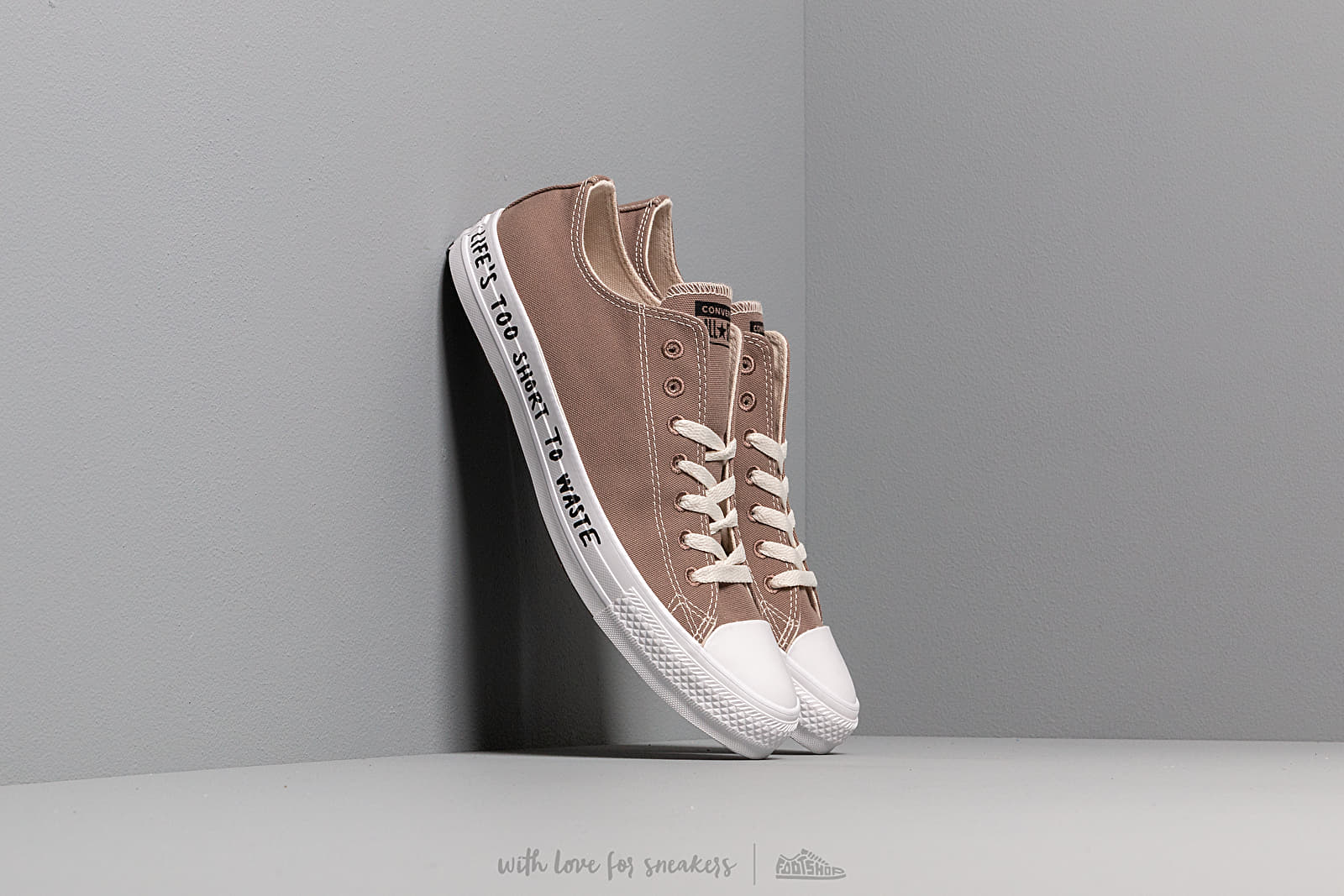Men's shoes Converse Chuck Taylor All Star OX Renew Canvas Mason Taupe/ Black/ White