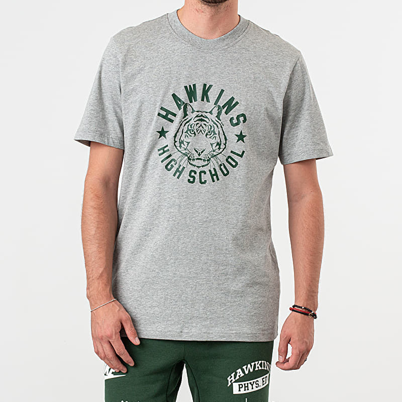 Nike x Stranger Things NRG Tee Dark Grey Heather/ Fir, Gray