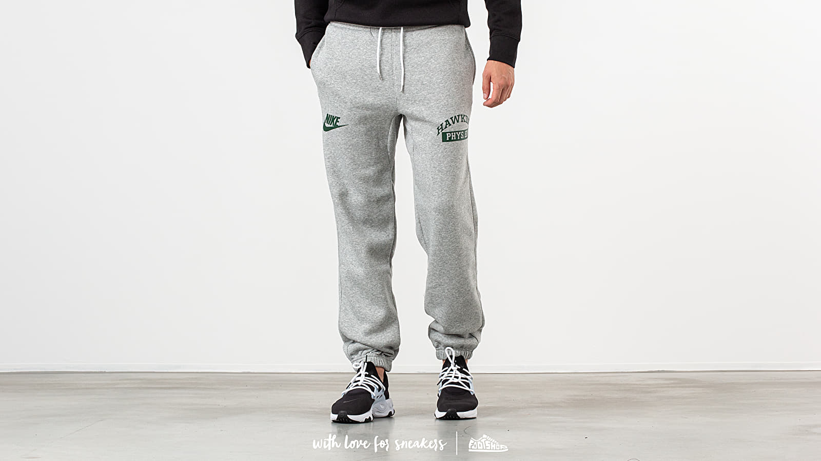 5af3297c Nike x Stranger Things NRG Club Pants Dark Grey Heather/ White/ Fir ...