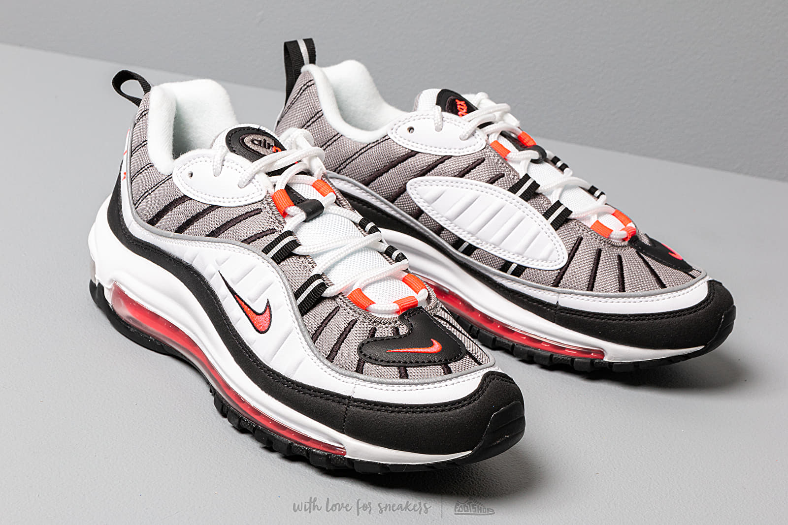 Nike W Air Max 98White Solar Red Dust Reflect Silver