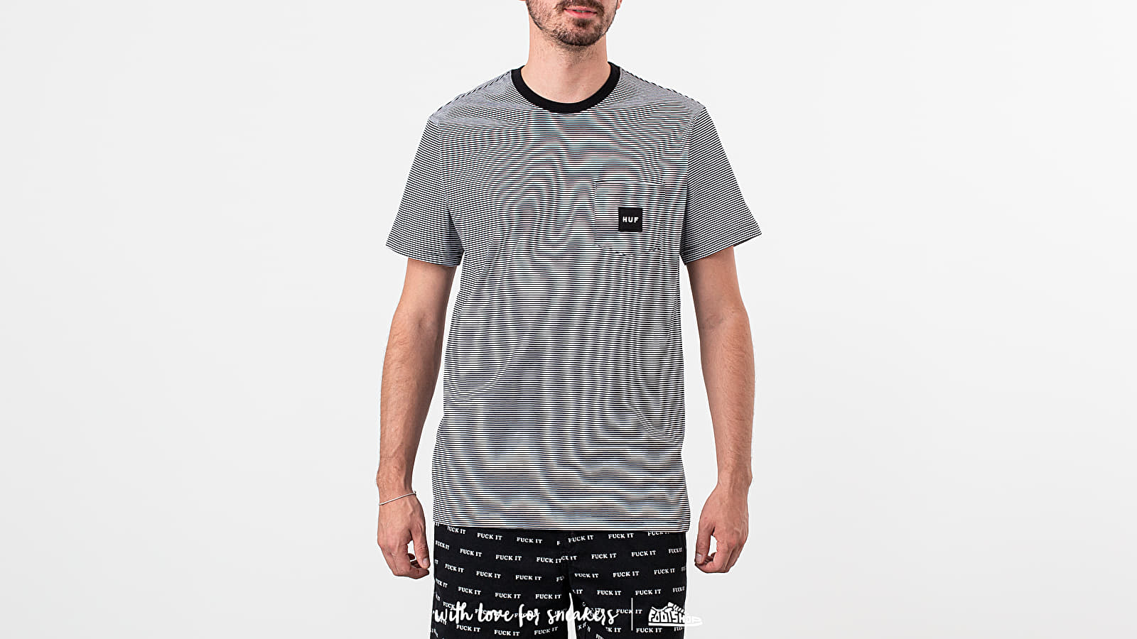 T-shirts Huf Carson Stripe Tee Black