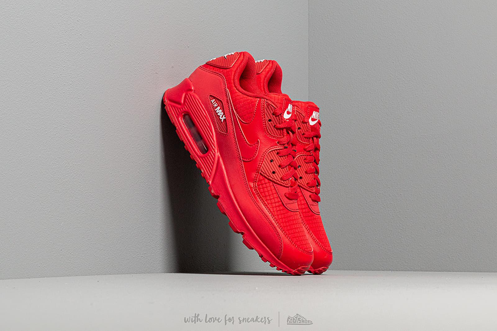 Mens Nike Air Max 90 Essential Midnight NavyUniversity Red White