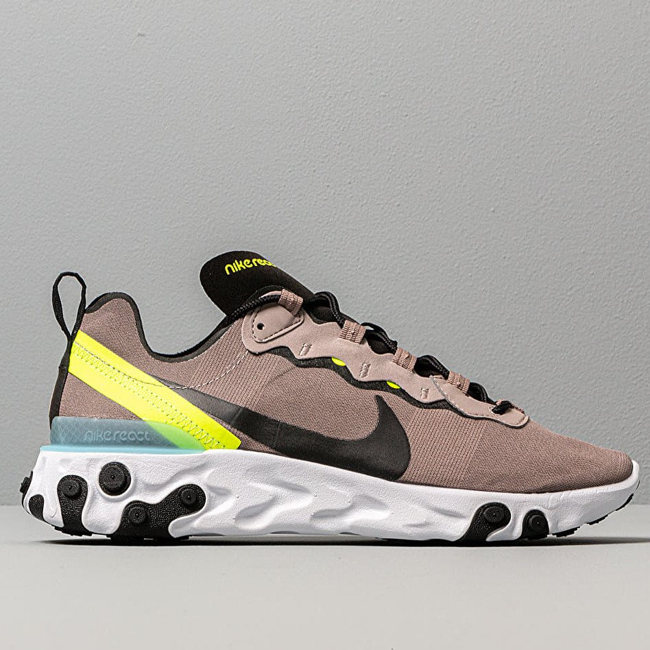 Nike React Element 55 Pumice/ Black-White-Blue Chill, Brown