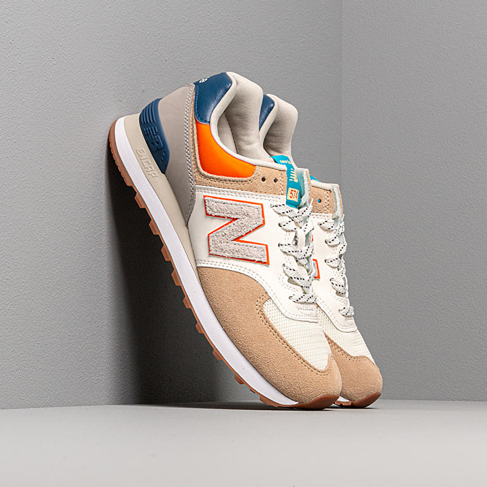 New Balance 574 Beige/ Blue/ Orange EUR 42
