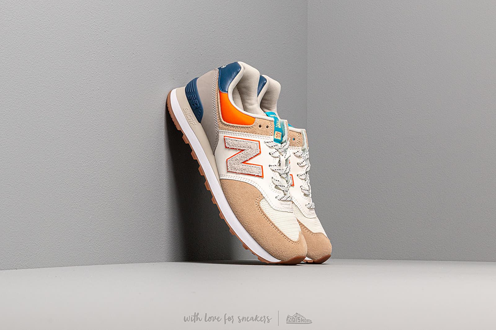 Pánské tenisky a boty New Balance 574 Beige/ Blue/ Orange