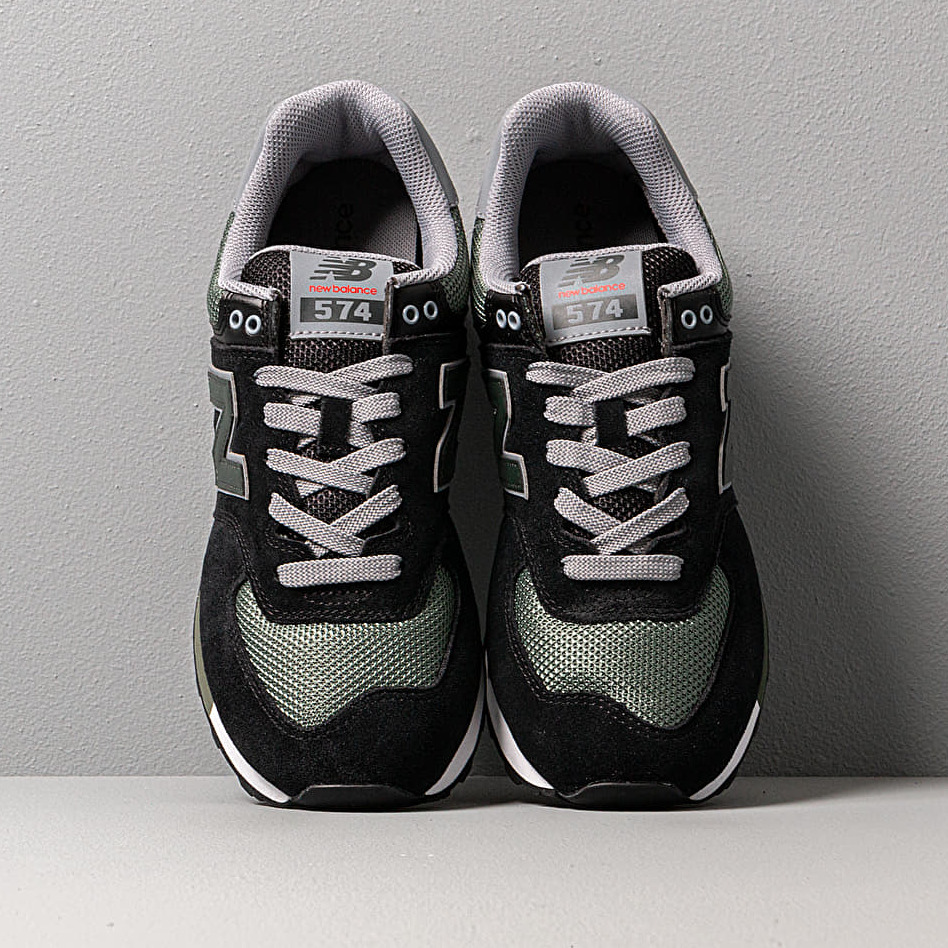 New Balance 574 Black/ Green